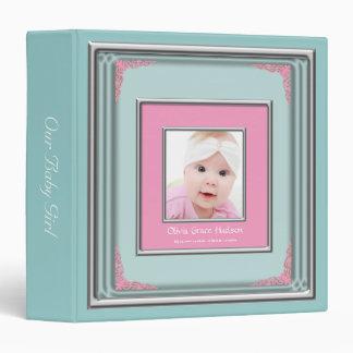"""Álbum azul y rosado del trullo de la foto del carpeta 1 1/2"""""""