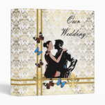 Álbum blanco del boda del cordón del damasco carpeta 2,5 cm