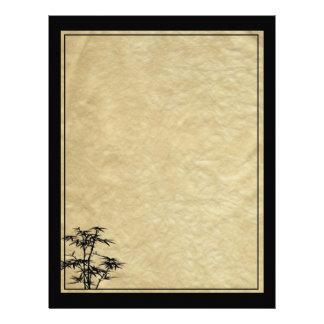 Álbum de bambú plantilla de membrete