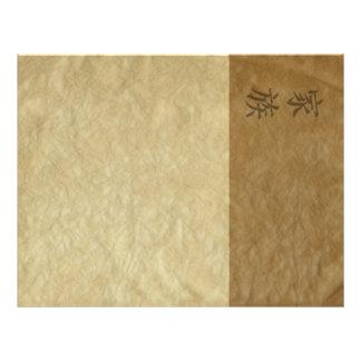 Álbum de bambú membrete a diseño