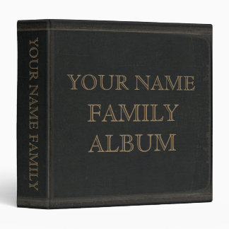 Álbum de cuero oscuro de la familia de la impresió