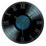 Álbum de disco de vinilo del rollo de la roca n en relojes
