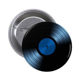 Álbum de disco de vinilo retro en azul pins