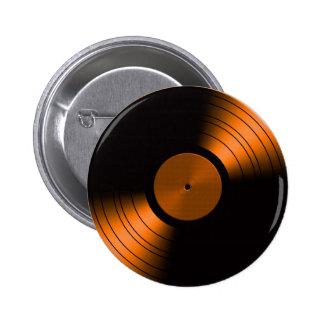 Álbum de disco de vinilo retro en naranja pins