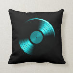 Álbum de disco de vinilo retro en trullo almohada