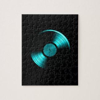 Álbum de disco de vinilo retro en trullo rompecabezas