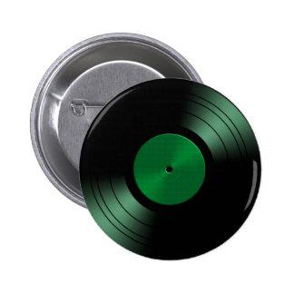 Álbum de disco de vinilo retro en verde pin