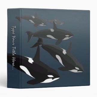 Álbum de encargo de la carpeta de la orca de la