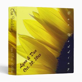 Álbum de encargo del boda del girasol
