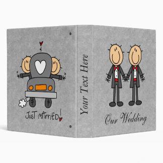Álbum de encargo del boda del matrimonio homosexua
