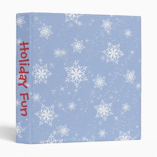 Álbum de foto azul de los copos de nieve