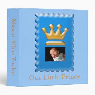 Álbum de foto azul del bebé de príncipe Crown