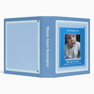 Álbum de foto azul del bebé del marco de la foto