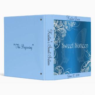 Álbum de foto azul del dulce dieciséis