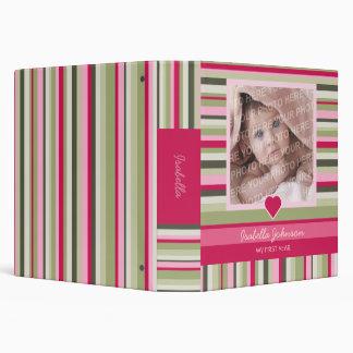 Álbum de foto colorido de la niña de las rayas