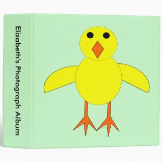 Álbum de foto de encargo del polluelo lindo de Pas