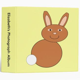 Álbum de foto de encargo feliz del conejito de pas