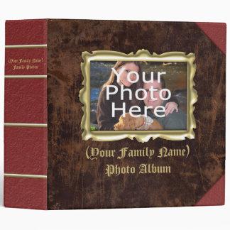 """Álbum de foto de encargo grande del marco del carpeta 2"""""""