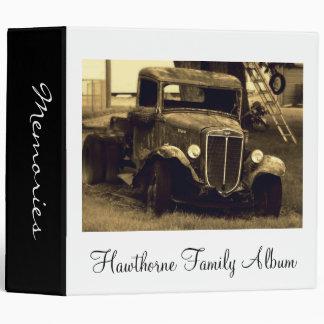 Álbum de foto de familia del camión del vintage de