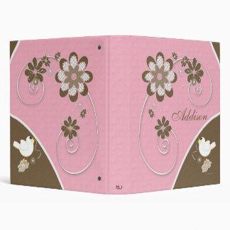Álbum de foto de la niña en rosa y Brown