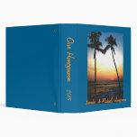 Álbum de foto de la puesta del sol de la playa de