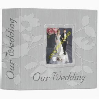 """Álbum de foto del boda/carpeta florales de plata carpeta 2"""""""