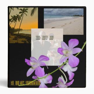 "Álbum de foto del boda de playa carpeta 1 1/2"""