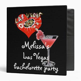 """Álbum de foto del fiesta de Las Vegas Bachelorette Carpeta 1 1/2"""""""