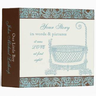 Álbum de foto del libro del bebé - cuna del damasc