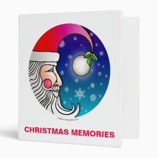 Álbum de foto del navidad, carpeta - luna de Santa