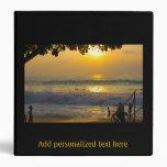 Álbum de foto del paisaje de la playa del oro de l