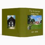 Álbum de foto del recuerdo de la granja de la carpeta 3,8 cm