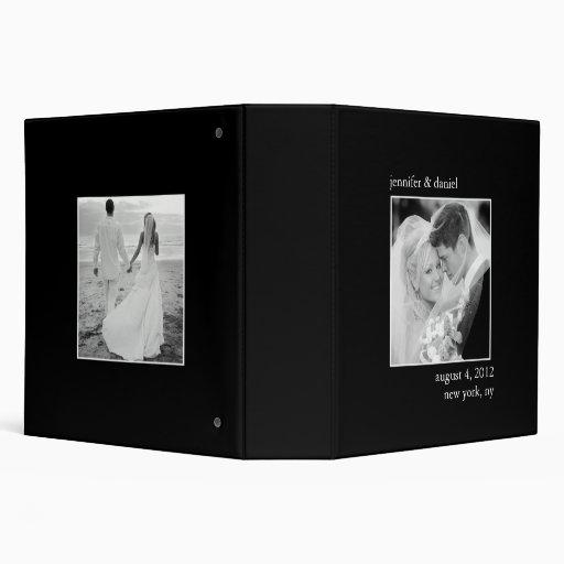 Álbum de foto elegante y clásico del boda