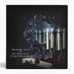 Álbum de foto gótico del boda de la fantasía de la