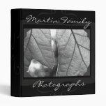 Álbum de foto gris de familia del ónix
