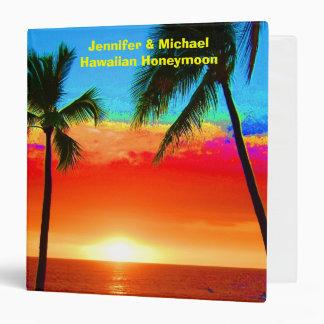 Álbum de foto hawaiano de la luna de miel