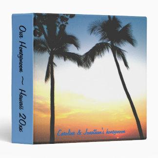 """Álbum de foto hawaiano de la luna de miel carpeta 1 1/2"""""""