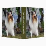 Álbum de foto hermoso del perro áspero del collie,