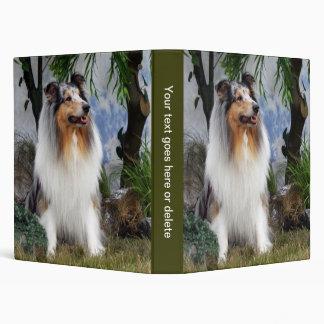Álbum de foto hermoso del perro áspero del collie