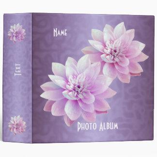 """Álbum de foto púrpura de las flores de Lotus de la Carpeta 2"""""""