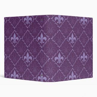 Álbum de foto púrpura del modelo de la flor de lis