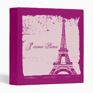 Álbum de foto rosado del boda de la torre Eiffel