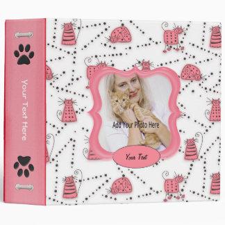 "Álbum de foto rosado del recuerdo de Toons del gat Carpeta 2"""