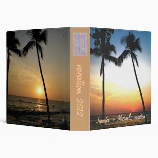 "Álbum de foto tropical de la playa carpeta 1 1/2"""