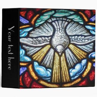 Álbum de la carpeta de la paloma del vitral