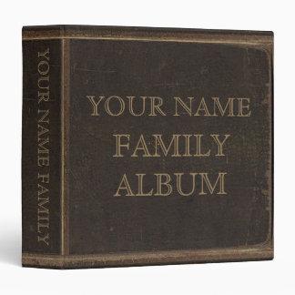 Álbum de la familia de la impresión del cuero de B