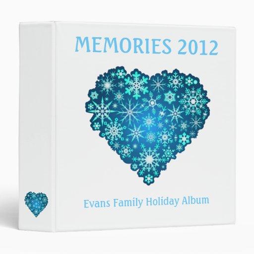Álbum de la familia del invierno - carpeta azul