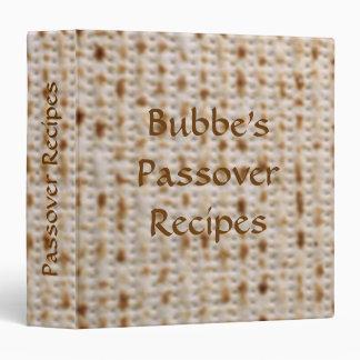 Álbum de la receta del Matzoh del Passover de la c