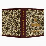 Álbum de oro del boda del estampado leopardo