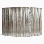 Álbum de plata del cuaderno de la imitación de cue